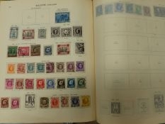 WORLD STAMPS N FOUR LARGE IDEAL ALBUMS.