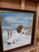 AN OIL PAINTING SPRINGER SPANIEL SIGNED REID-MILLER