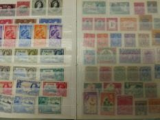 MINT, USED AND COMMONWEALTH STAMPS IN 7 ALBUMS.