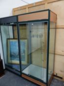 A PAIR OF DISPLAY CABINETS.