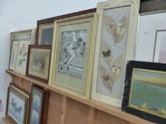 A LARGE QTY OF DECORATIVE PRINTS AND PICTURES.