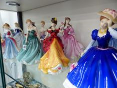 TEN ROYAL DOULTON FIGURINES TOGETHER WITH BOXES AND CERTIFICATES.