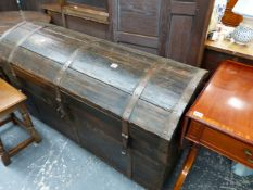 A LARGE BLANKET CHEST.