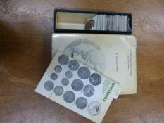 A COLLECTION OF FORTY FOUR TOKENS AND RELATED COINS TOGETHER WITH DALTON AND HAMER'S PROVINCIAL