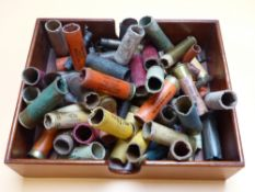 A BAG OF MIXED OLD CARTRIDGE CASES.