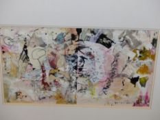 KINGERLEE. CONTEMPORARY. ARR. INFINITY No.506, MIXED MEDIA, MOUNTED BUT UNFRAMED. 25 x 45.5cms.