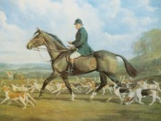 RICHARD MILLAIS. (1901-1999) ARR. CAPTAIN R.E.WALLACE, MASTER AND HUNTSMAN OF THE HEYTHROP HOUNDS,