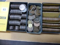 A LARGE COLLECTION OF PENNIES AND HALFPENNIES FROM VICTORIAN TIMES THROUGH TO ELIZABETH II