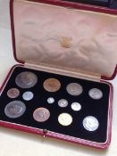 A 1937 SPECIMEN COIN CASED PART SET.
