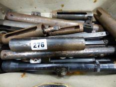 A BOX OF AIR GUN PARTS.
