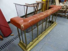 A SMALL CLUB FENDER TOGETHER WITH A VICTORIAN NURSERY FIREGUARD. (2)