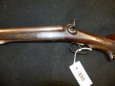 KELLNER & MAURER, WEIN (VIENNA) DB.24B HAMMER GUN. NVN. NO PROOF MARKS.