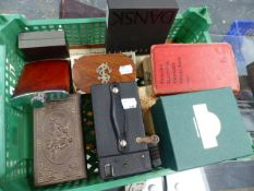 COLLECTABLES TO INCLUDE COINS, JEWELLERY, SILVER COMPACT, VETSAS, PLAYING CARDS, VINTAGE CAMERA,