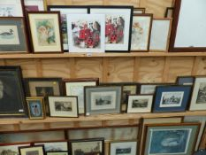 AN EXTENSIVE COLLECTION OF DECORATIVE PANTING AND PRINTS,ETC.