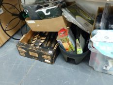 A LARGE QTY OF NEW OLD STOCK, GARDEN EQUIPMENT,ETC.