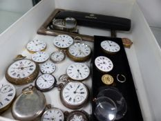 A QTY OF POCKET WATCHES AND MOVEMENTS.