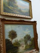 TWO OIL PAINTINGS, COUNTRYSIDE SCENES.