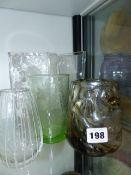 VARIOUS ART GLASSWARE.