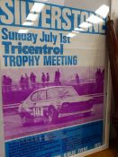 A VINTAGE SILVERSTONE RACING POSTER.