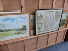 VARIOUS OIL, WATERCOLOUR PAINTINGS AND PRINTS.