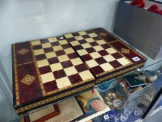 A VINTAGE CHESS BOARD.