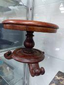A VICTORIAN MAHOGANY APPRENTICE TABLE.
