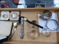 COLLECTABLES AND WATCHES TO INCLUDE BULOVA, LONGINES, SEIKO ETC.