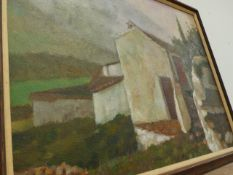A LARGE OIL PAINTING SIGNED LOPEZ CANALEY.