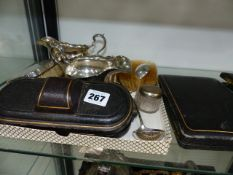 VARIOUS SILVER AND PLATED WARE.