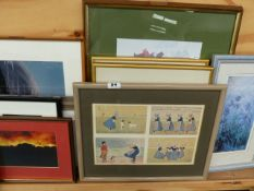 A QTY OF PRINTS AND PHOTOGRAPHIC PICTURES,ETC.
