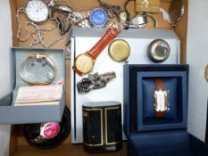 A COLLECTION OF WRIST WATCHES AND POCKET WATCHES.