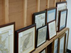 A QTY OF FRAMED MAPS.