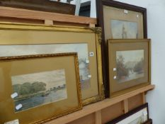 FOUR EARLY 20th.C.WATERCOLOURS.