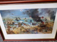 A LARGE PRINT AFTER CUNEO, D-DAY.