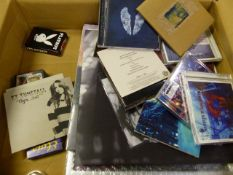 A QTY OF VARIOUS CDS TO INCLUDE SIGNED EXAMPLES AND RELATED EPHEMERA.