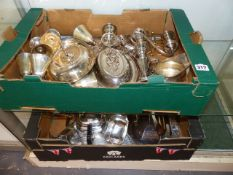 A QTY OF SILVER PLATEDWARES.