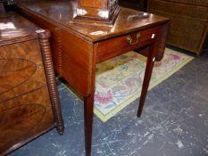 A 19th.C.MAHOGANY PEMBROKE TABLE.