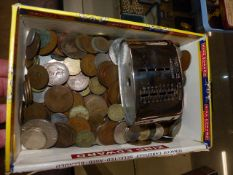 A QTY OF COINS.