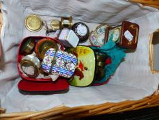 A COLLECTION OF TRINKET BOXES,ETC.
