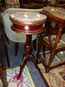 A FRENCH STYLE OCCASIONAL TABLE.