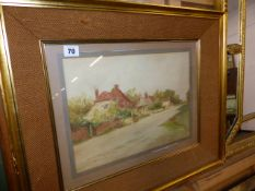 A WATERCOLOUR SIGNED W M BIRCHALL.