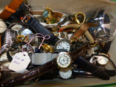 A LARGE QUANTITY OF LADIES AND GENTS WRISTWATCHES.