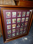 TWO SETS OF FRAMED PLAYERS CIGARETTE CARDS.