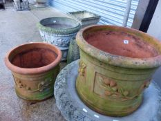 A PAIR OF TERRACOTTA PLANTERS.