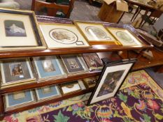 A COLLECTION OF 19th.C.BAXTER PRINTS AND ASSOCIATED BOOKS.