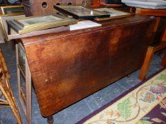 A 19th.C.OAK DROP LEAF TABLE.