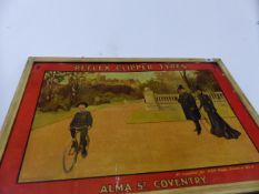 AN EARLY 20th.C.ADVERTISING PRINT FOR REFLEX CLIPPER TYRES.
