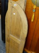 A PAIR OF PINE DOORS.
