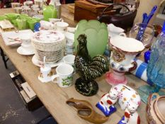ASSORTED CHINA AND GLASSWARE.