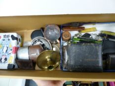 A BOX OF COLLECTABLES.